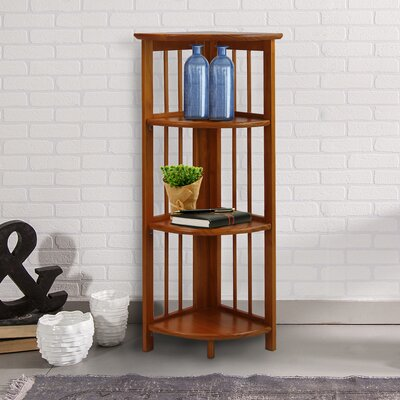 Taube 38 Corner Unit Bookcase Finish: Honey Oak