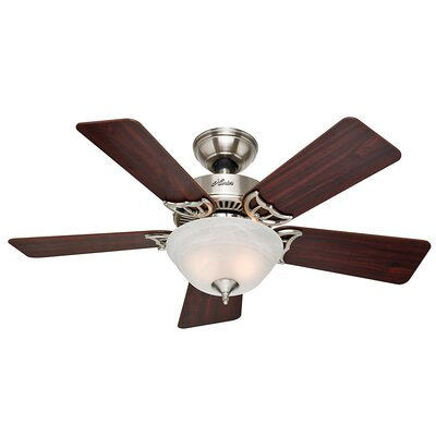 42 Bivens 5 Blade Ceiling Fan Finish: Brushed Nickel with Cherry/Maple Blades