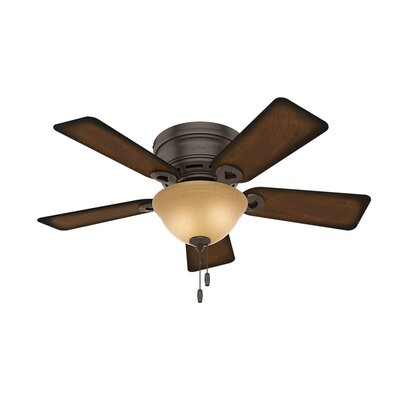 42 Black Cloister 5 Blade Ceiling Fan Finish: Onyx Bengal with Burnished Mahogany Blades