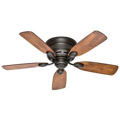 42 Black Raven 5 Blade Ceiling Fan Finish: Bronze with Weathered Oak/Wine Country Blades