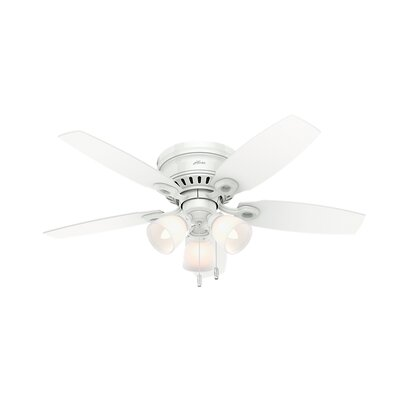46 Blackmon 5 Blade Ceiling Fan Finish: Snow White
