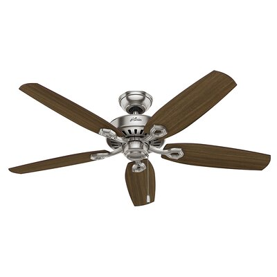 52 Blacksmith 5 Blade Ceiling Fan Finish: Brushed Nickel with Brazilian Cherry/Harvest Mahog