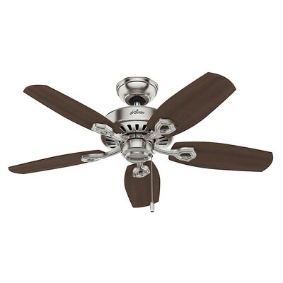 42 Blackwater 5 Blade Ceiling Fan Finish: Brushed Nickel with Brazilian Cherry/Harvest Mahog