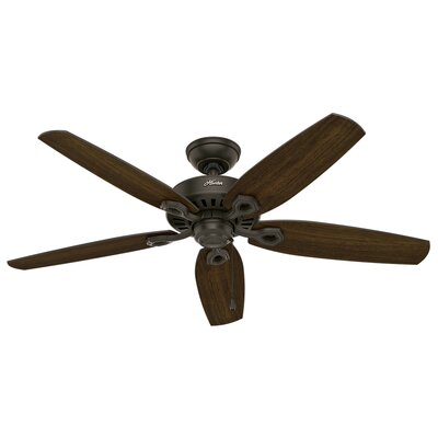 52 Blacksmith 5 Blade Outdoor Ceiling Fan Finish: New Bronze with Stained Oak/Medium Walnut Blades