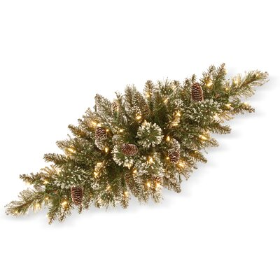 Charlton Home Pine Centerpiece with 50 Clear Lights