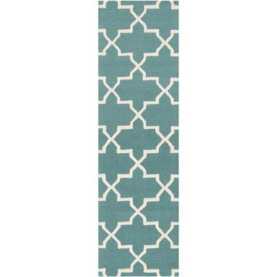 Blaisdell Teal Geometric Keely Area Rug Rug Size: Runner 23 x 12