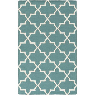 Blaisdell Teal Geometric Keely Area Rug Rug Size: Rectangle 76 x 96