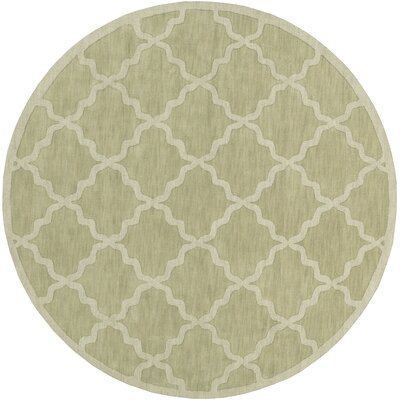 Blankenship Sage Geometric Abbey Area Rug Rug Size: Round 6