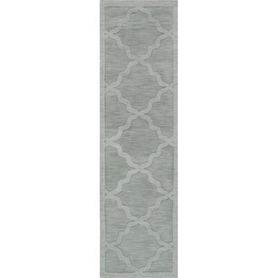 Blankenship Hand Woven Wool Light Blue Area Rug Rug Size: Runner 23 x 14