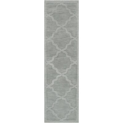 Blankenship Hand Woven Wool Light Blue Area Rug Rug Size: Runner 23 x 8