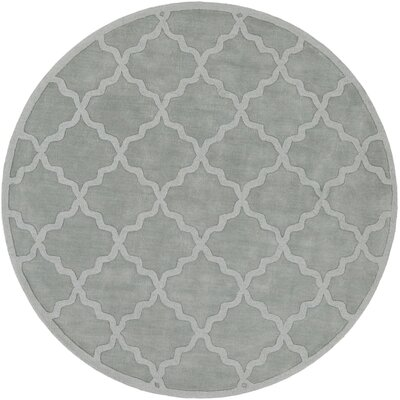 Blankenship Hand Woven Wool Light Blue Area Rug Rug Size: Round 99