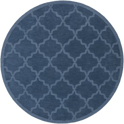 Blankenship Geometric Abbey Area Rug Rug Size: Round 6