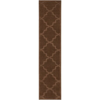 Blankenship Brown Geometric Abbey Area Rug Rug Size: Runner 23 x 12