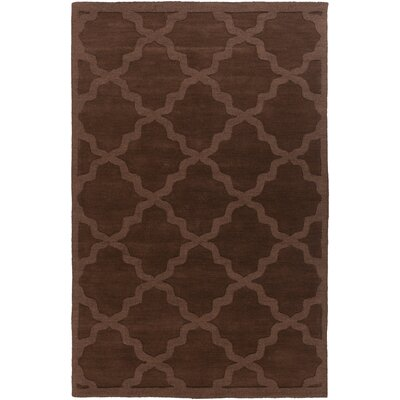 Blankenship Brown Geometric Abbey Area Rug Rug Size: Rectangle 5 x 76