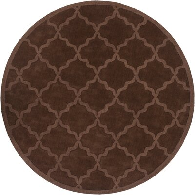 Blankenship Brown Geometric Abbey Area Rug Rug Size: Round 79