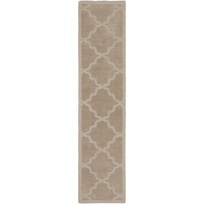 Blankenship Tan Geometric Abbey Area Rug Rug Size: Runner 23 x 14