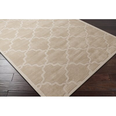 Blankenship Tan Geometric Abbey Area Rug Rug Size: Rectangle 9 x 12
