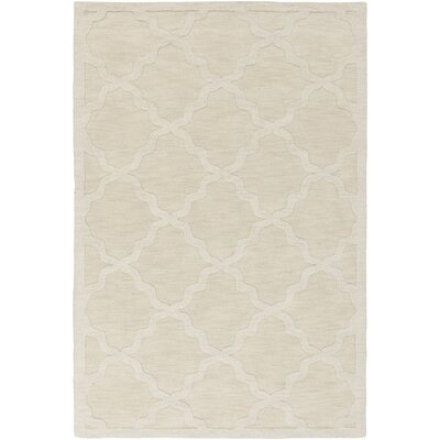 Blankenship Hand-Woven Wool Beige Area Rug Rug Size: Rectangle 8 x 10