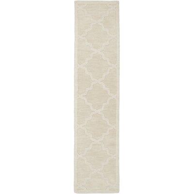 Blankenship Hand-Woven Wool Beige Area Rug Rug Size: Runner 23 x 12