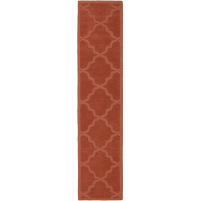 Blankenship Red Geometric Abbey Area Rug Rug Size: Runner 23 x 12