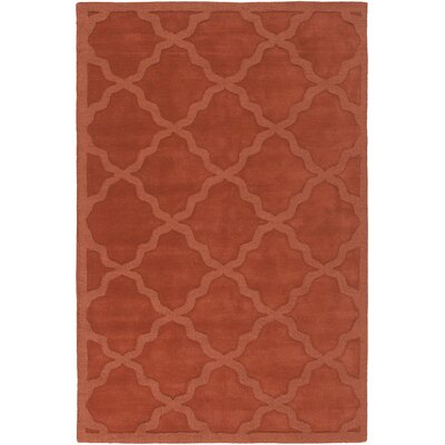 Blankenship Red Geometric Abbey Area Rug Rug Size: Rectangle 5 x 76