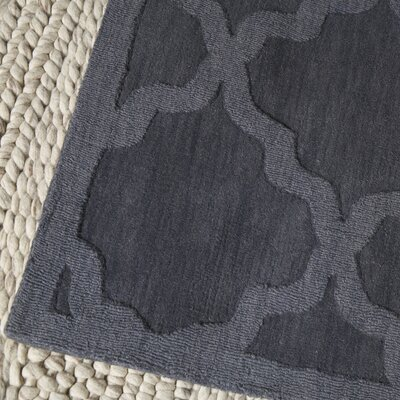 Blankenship Hand-Woven Charcoal Area Rug Rug Size: Rectangle 4 x 6