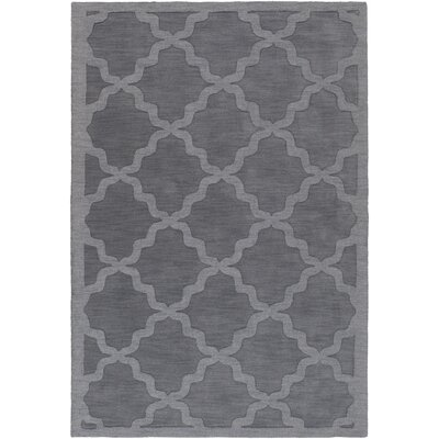 Blankenship Hand-Woven Charcoal Area Rug Rug Size: Rectangle 5 x 76