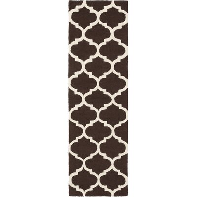 Blaisdell Brown Geometric Stella Area Rug Rug Size: Runner 23 x 12