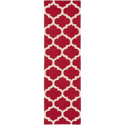 Blaisdell Red Geometric Stella Area Rug Rug Size: Runner 23 x 14