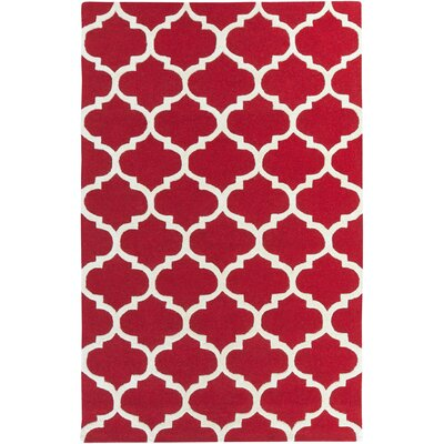 Blaisdell Red Geometric Stella Area Rug Rug Size: Rectangle 4 x 6