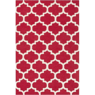 Blaisdell Red Geometric Stella Area Rug Rug Size: 6 x 9