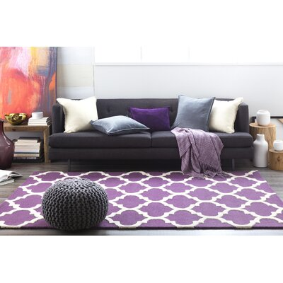 Blaisdell Purple Geometric Stella Area Rug Rug Size: Rectangle 76 x 96