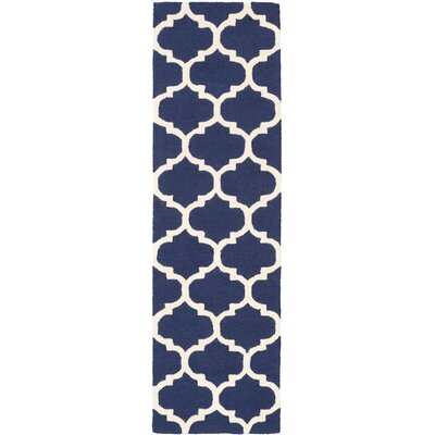 Blaisdell Navy Geometric Stella Area Rug Rug Size: Runner 23 x 10