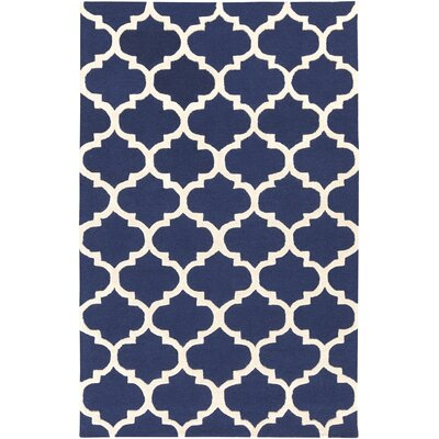 Blaisdell Navy Geometric Stella Area Rug Rug Size: Rectangle 76 x 96