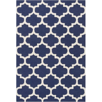 Blaisdell Navy Geometric Stella Area Rug Rug Size: Rectangle 6 x 9