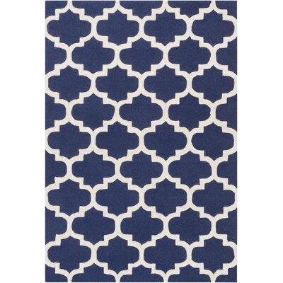 Blaisdell Navy Geometric Stella Area Rug Rug Size: 8 x 11