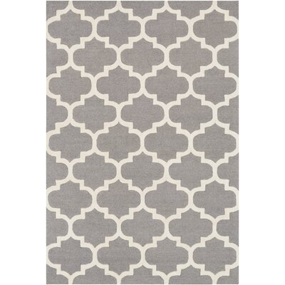 Blaisdell Hand-Woven Gray Area Rug Rug Size: Rectangle 2' x 3'