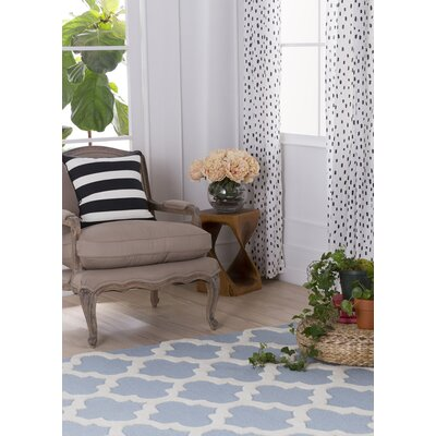 Blaisdell Blue Geometric Stella Area Rug Rug Size: Rectangle 76 x 96