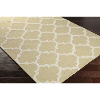 Blaisdell Gold Geometric Stella Area Rug Rug Size: Rectangle 4 x 6