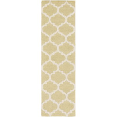 Blaisdell Gold Geometric Stella Area Rug Rug Size: Runner 23 x 14