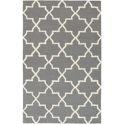 Blaisdell Charcoal Geometric Keely Area Rug Rug Size: 76 x 96