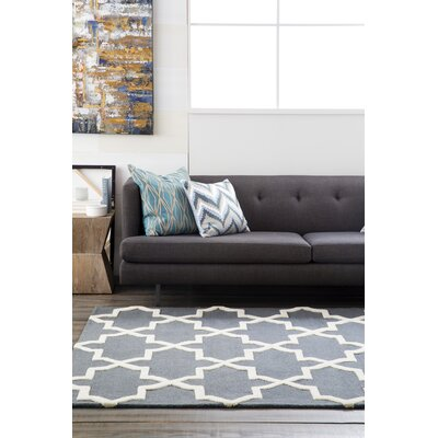 Blaisdell Charcoal Geometric Keely Area Rug Rug Size: Rectangle 4' x 6'