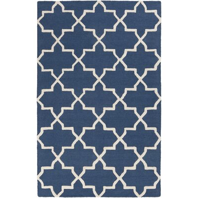 Blaisdell Navy Geometric Keely Area Rug Rug Size: Rectangle 5 x 8