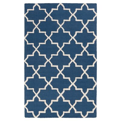 Blaisdell Navy Geometric Keely Area Rug Rug Size: Rectangle 76 x 96