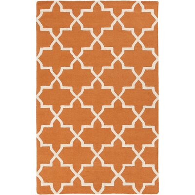 Blaisdell Orange Geometric Keely Area Rug Rug Size: Rectangle 5 x 8