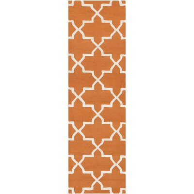 Blaisdell Orange Geometric Keely Area Rug Rug Size: Runner 23 x 8