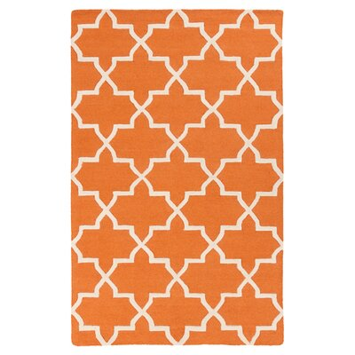 Blaisdell Orange Geometric Keely Area Rug Rug Size: Rectangle 76 x 96