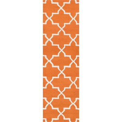 Blaisdell Orange Geometric Keely Area Rug Rug Size: Runner 23 x 12