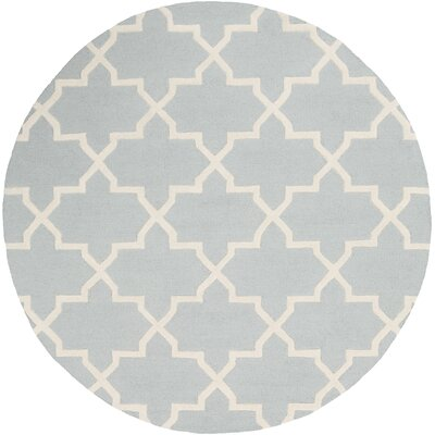 Blaisdell Blue Geometric Keely Area Rug Rug Size: Round 8