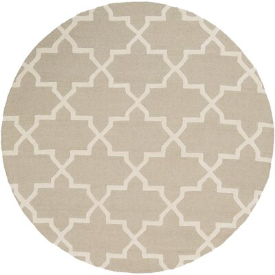 Blaisdell Beige Geometric Keely Area Rug Rug Size: Round 6